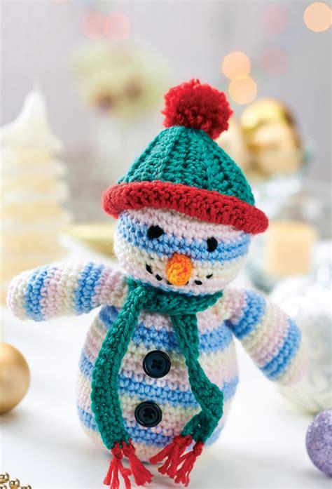 crochet snowman toy crochet pattern