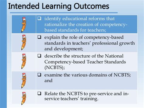 Mba Course Outcomes by National Competency Based Standards Ncbts