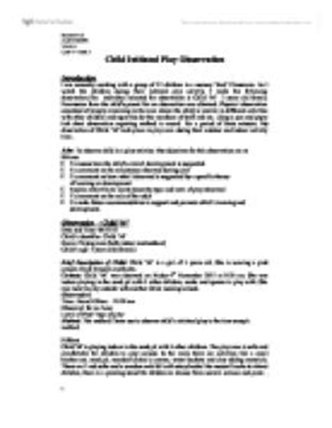 Educating Play Essay by Play Assignment Essay