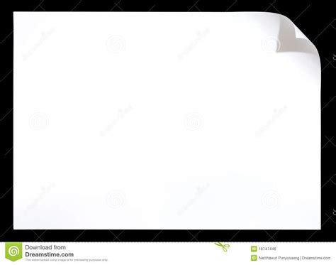 How To Make A White Paper - white paper with corner curl on royalty free stock