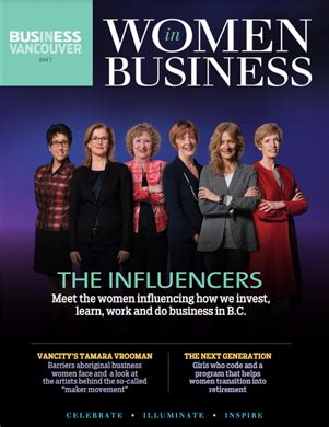 feature article: women in business magazine features judi