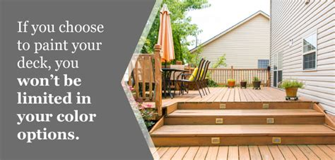 painting  staining  deck  option