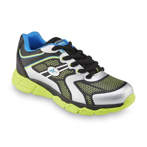 neon athletic shoes athletech boy s dynamo neon black neon green silver