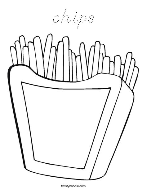 D Nealian Coloring Pages by Chips Coloring Page D Nealian Twisty Noodle