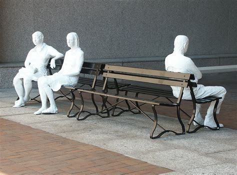 George Segal Three Figures And Four Benches images of george segal s three figures on four benches at