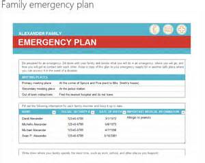 Emergency Preparedness And Response Plan Template best photos of emergency disaster plan emergency family