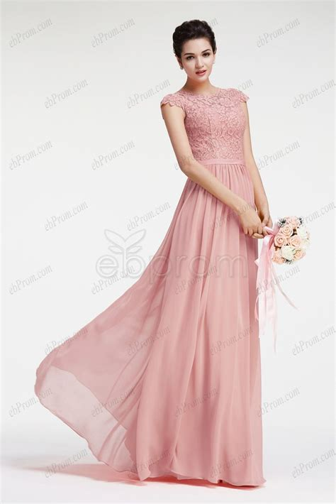 Dress Pretty Dusty Pink dusty pink bridesmaid dresses with cap sleeves ebprom