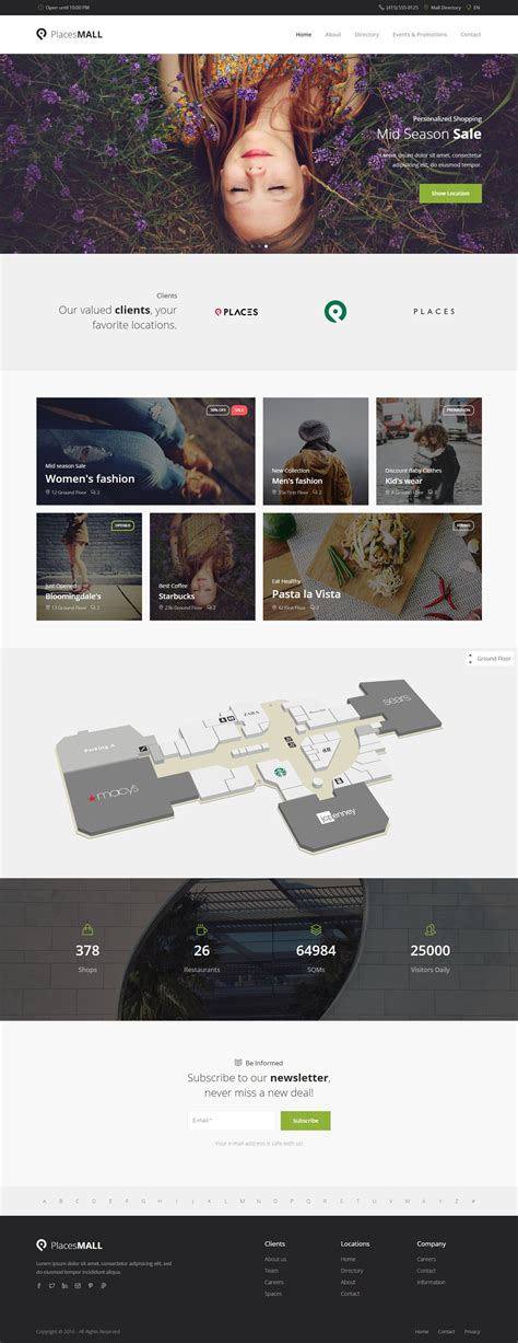 Places Custom Interactive Map Html5 Template Places Is The First Directory Template With Interactive Map Website Template
