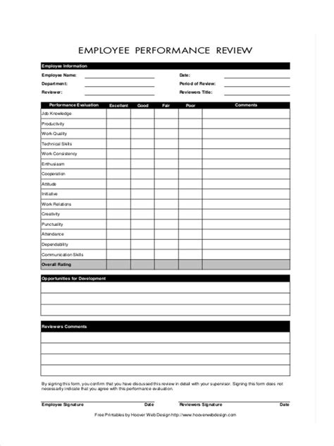 appraisal forms in pdf 27 performance review forms in pdf
