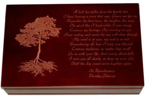 A Place Poem Douglas Wood Family Tree Remembrance Keepsake Box