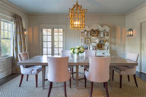 Pink Floral Curtains Turquoise Beaded Chandelier Eclectic Dining Room