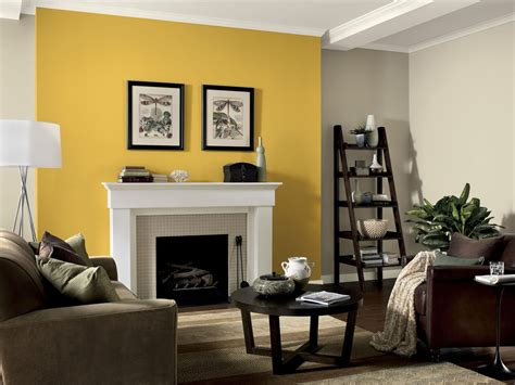 grey walls color accents give a single wall a pop of color to brighten up a room