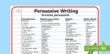 persuasive writing word mat persuasive