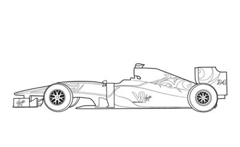 Formula 1 Sketches by Vr1 F1 Car Coloring Page Free Cars