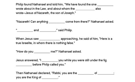 the nothing book my fill in the blanks world books philip and nathanael bible study worksheet