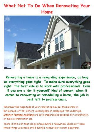 what to do first when renovating a house what not to do when renovating your home by master touch