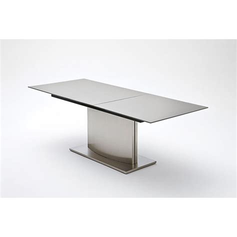 memory extendable grey glass dining table 19887 furniture