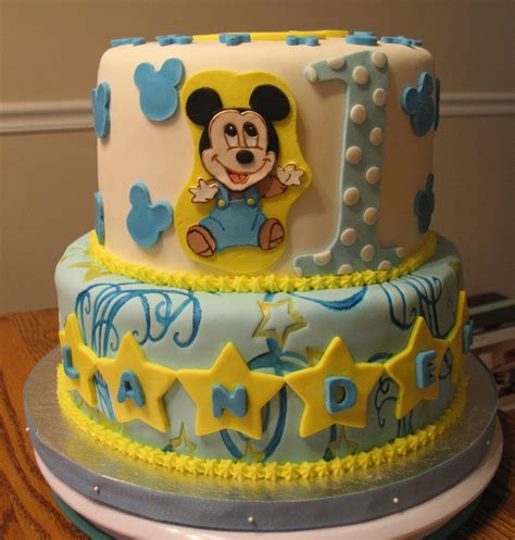 Baby Birthday Cake by Baby Mickey Decorations Best Baby Decoration