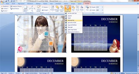 Insert Calendar In Word 2007 how to create a custom calendar in ms word 2007 guide