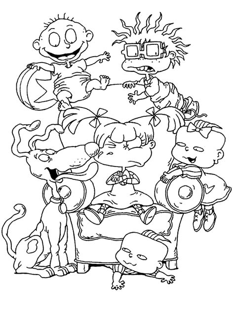 90s Coloring Page by Rugrats Coloring Pages Coloring Home