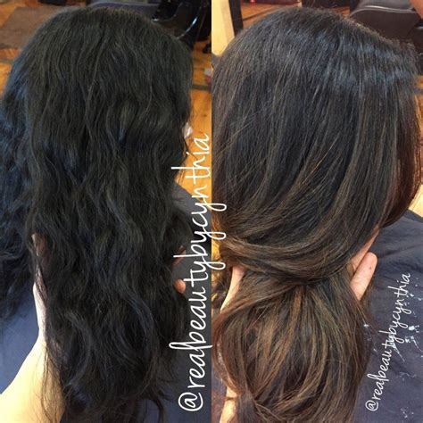 before and after ombre balayage on dark brown color treated hair before and after dark brown black virgin hair to caramel