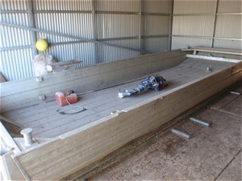 punt boat for sale nsw 7 3mtr oyster punt aluminium hull auction 0007 5009261