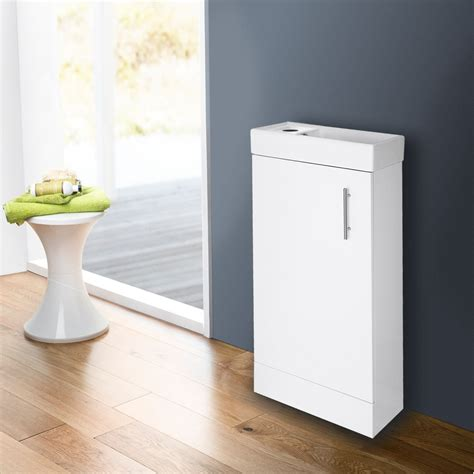compact bathroom vanity units compact bathroom vanity unit basin sink cloakroom 400mm