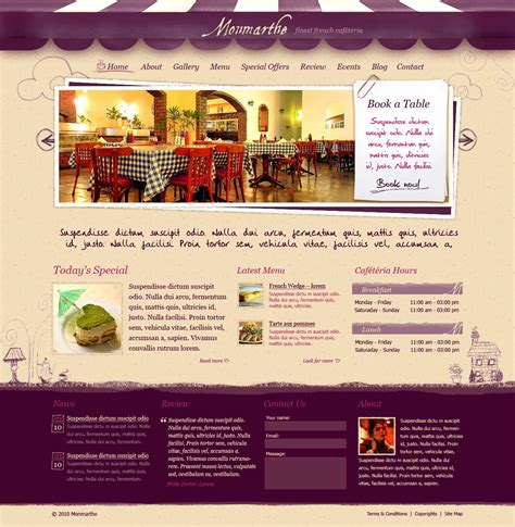 themeforest restaurant template monmarthe restaurant cafe html template by