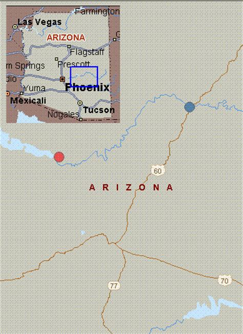 salt river arizona map map for salt river arizona white water route 60 to