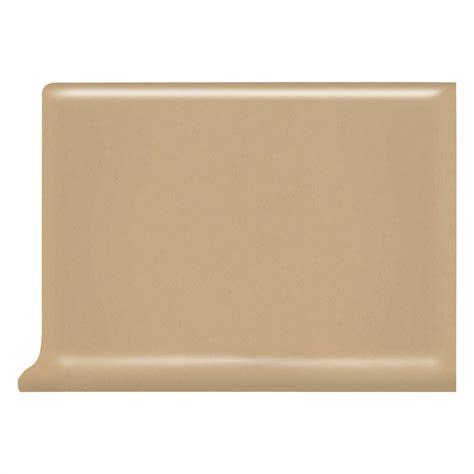 shop american olean bright cappuccino ceramic cove base tile common 4 in x 6 in actual 4 25
