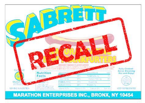 sabrett recall more than 7 million pounds of dogs recalled nationwide foodsafetytech