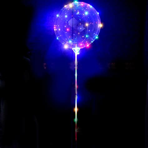 24 Clear Balloon Stick With Cups 60cm For Light Up Bobo Light Up String
