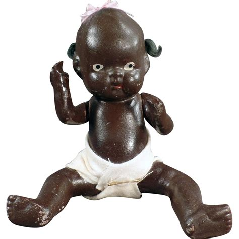 black bisque doll japan black baby doll almost 7 japanese bisque sold