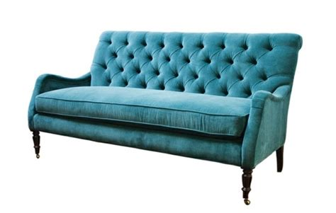 Aqua Tufted Velvet Sofa Aqua Tufted Sofa