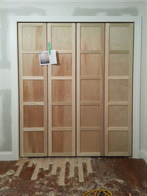 Closet Doors Bifold by Paneled Bi Fold Closet Door Diy Room For Tuesday