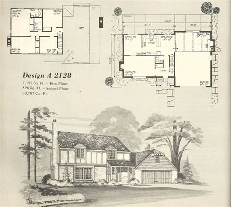 1970s house plans vintage house plans 1970s homes tudor style home plan