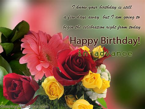 Advance Birthday Cards Happy Birthday In Advance Greeting Cards