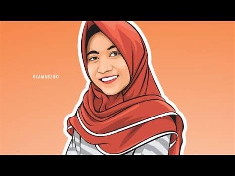 tutorial wpap hijab tutorial vector corel draw menggambar gadis berhijab