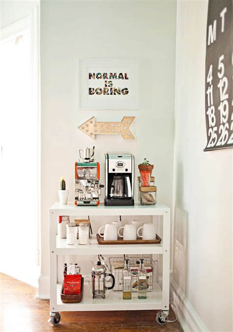 Kitchen Cart Coffee Station 11 Genius Ways To Diy A Coffee Bar At Home Eatwell101