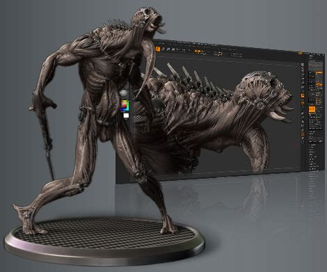 Make 3d Creatures From Your Printer by New Workshop Sponsor Pixologic Makers Of Zbrush Mold3d