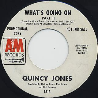 quincy jones what s going on quincy jones what s going on 7inch a m 中古レコード通販 大阪