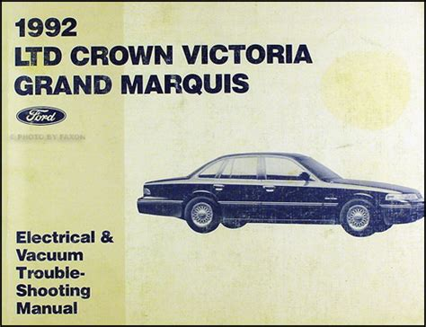 electric and cars manual 2004 ford crown victoria user handbook 1992 crown victoria grand marquis electrical troubleshooting manual ford mercury ebay
