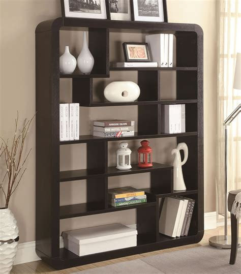 contemporary bookcase modern bookshelves home design