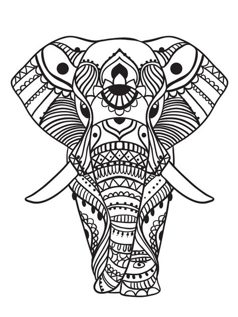 coloring pages abstract elephant 321 best adult colouring elephants zentangles images on