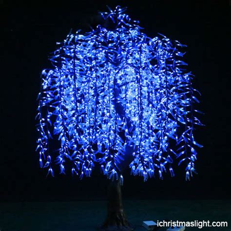 led light decorations blue led willow tree decorations ichristmaslight