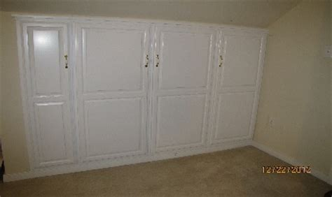 knee wall cabinets before after home ideas