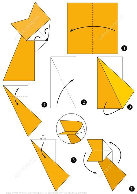 printable origami fox instructions origami fox instructions free printable papercraft templates