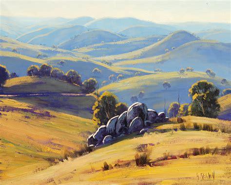 Landscape Paintings Australia Kanimbla Valley Australia By Artsaus On Deviantart