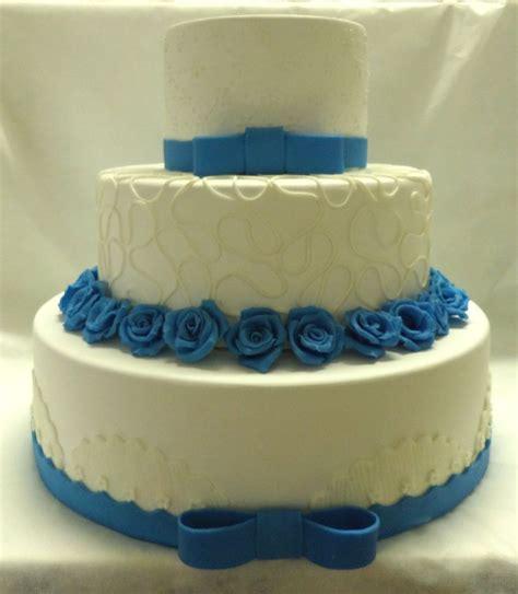 Americana Home Decor bolo cenogr 225 fico de casamento azul e branco bolos