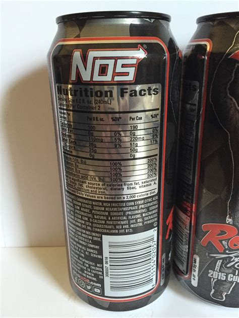 energy drink nos nos energy drink rowdy new 2016 flavor 2 total 16oz cans